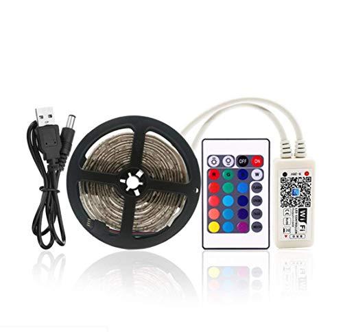 SIMGULAM USB-LED-Beleuchtungsstreifen 9.84ft / 3M, SMD5050 RGB Intelligente Farbwechselstreifen-TV-Hintergrundbeleuchtung, Flexibler Bandstrang für 50 ''60' 'HDT (WiFi) -