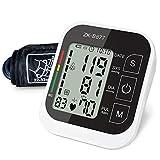 QAIYXM Precision Automatic Upper Arm Sphygmomanometer Digital BP Pulse Rate Monitor, Large Screen Upper Arm Blood Pressure Measuring Instrument Multi-Language