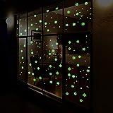 Étoiles Autocollants Brille Dans le Noir Fluorescents Autocollants Pour décoration Maison Enfants Chambre Size:About 25.5cm*28.5cm (Vert)