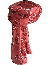 83919d89f93b64 LAFINITY T2315 Damen Schal Tuch Rot, Weiß Schleifen Motiv Locker Leicht