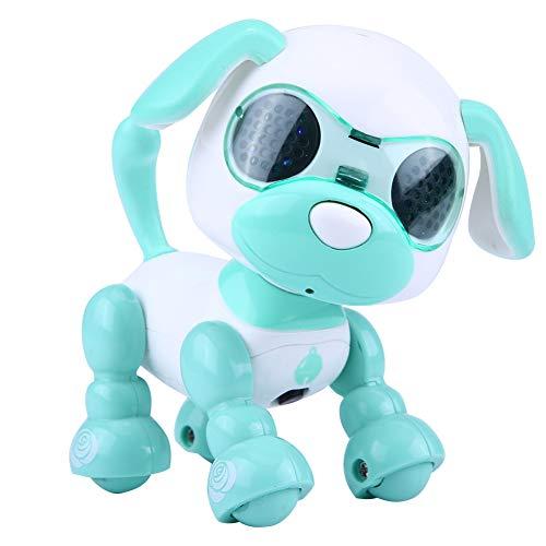 Dilwe Elektronische Roboter Hund Haustier Spielzeug Smart Kids Interactive Walking Sound Welpen mit LED-Licht Pädagogisches Spielzeug Geschenk für Kinder( Grün)