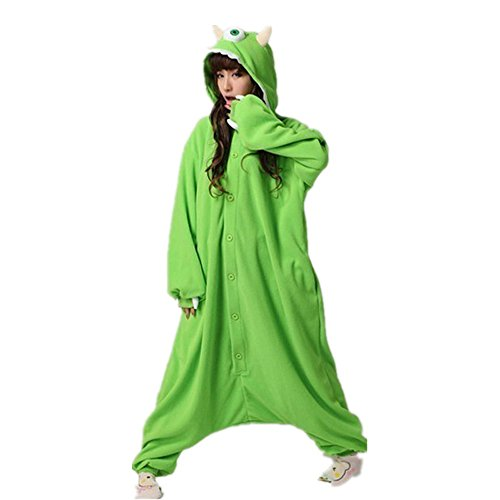 Kigurumi Pyjama - Motivauswahl: Monster Mike,Gr.-Small/Medium,Grün (Monsters Inc Kleid)