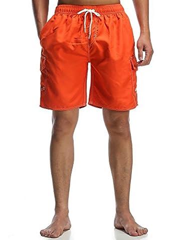 ORANSSI Men's Swim Trunks Beach Surf Shorts