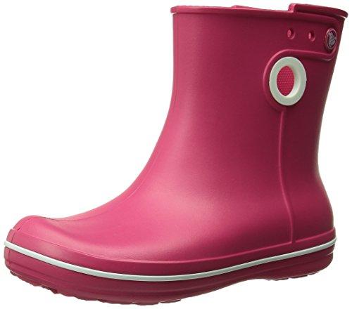 Crocs Jaunt Shorty Boot W, Boots - Femme Rouge (Raspberry)