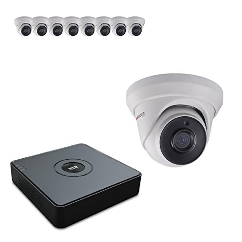hiwatch von HIKVISION 1080P HD-tvi Sicherheit Kamera System mit 16CH HD DVR und 10x 2.1Megapixel 1920x 1080P CCTV Turret Kamera, Kit (16 Ch Dvr-kit)