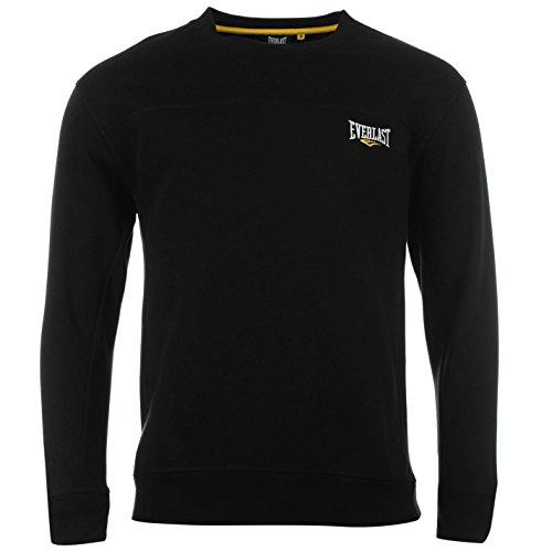 Everlast Herren Rundhals Sweater Langarm Strickpullover Pullover Pulli Schwarz