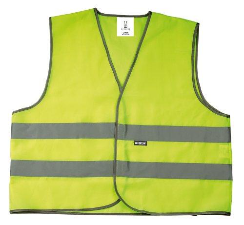 Wowow Mesh - Gilet ad alta visibilità, adulto, taglia M, colore giallo fluo