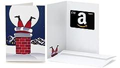 Idea Regalo - Buono Regalo Amazon.it - €50 (Biglietto d'auguri Babbo Natale Comignolo)