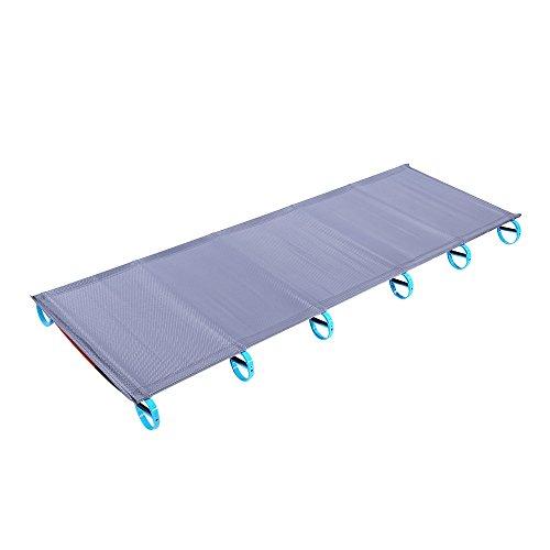 Charge 100 kg – Portable Lit pliant Tapis de camping ultraléger Lit simple résistant à l'humidité de couchage