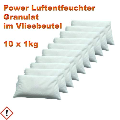 Luftentfeuchter Granulat im Vliesbeutel 10 x 1 kg Keller-Trockner Anti Feuchtigkeit -