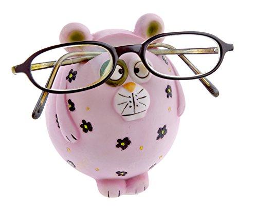 Preisvergleich Produktbild Kinderbrillenhalter, Brillenhalter Serengeti- Design Pink Panther, handbemalt, aus Polyresin, für jung und alt, für Kinder und Junggebliebene, lustig und frech