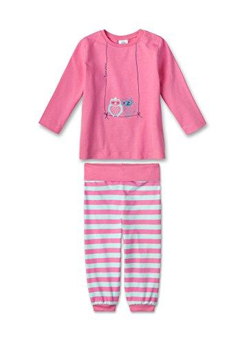 Sanetta Baby - Mädchen Zweiteiliger Schlafanzug 221165, Gr. 86, Rosa (fuchsia 3518)