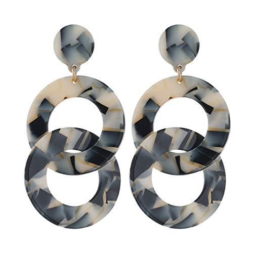 UINGKID Damen Ohrringe Mode Ohrstecker Vintage Persönlichkeit Kreative Metall Acetat Blatt Geometrie Wrap Kette Frauen