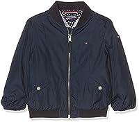 Tommy Hilfiger Girl's Thkg Basic Nylon Bomber Jacket, Blue (Navy Blazer 431), 128