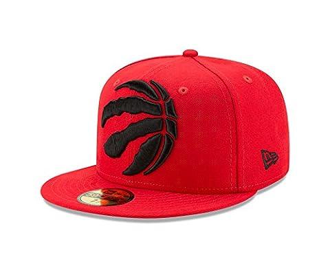 NBA Toronto Raptors Logo Grand Fitted 59Fifty Cap, 7.5, Scarlet