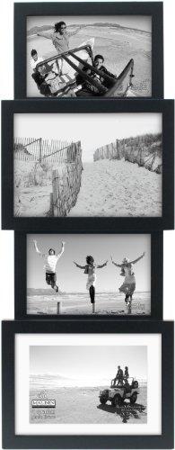 (Malden International Designs Collage-Bilderrahmen, für 4 Bilder, 2-10 x 15 cm, Schwarz)