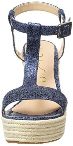 Unisa Marfa_Sv Damen Wedge Sandalen Blau (Marineblau) ...