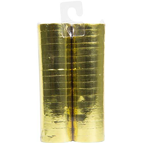 Luftschlangen Metallic Gold 4m - 2 Stück