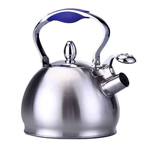 ahl Induktion Wasserkocher Teekessel Pfeifkessel mit Rutschfest Kunststoff Griff - Blau ()