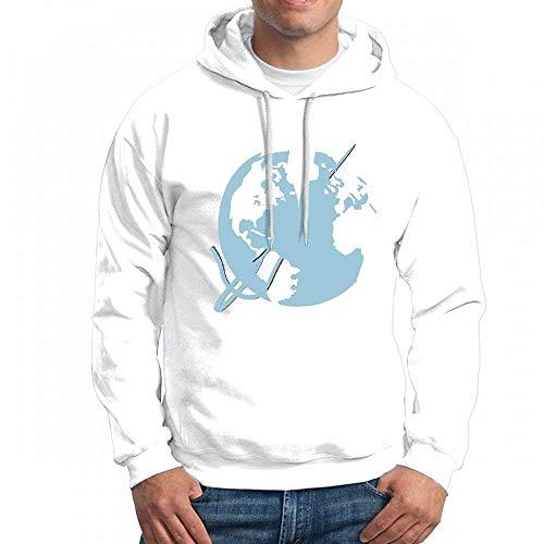 Repaired Globe Long Sleeve for Men Custom Hoodie Sweatshirt
