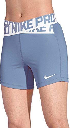 NIKE Women's 5'' Intertwist Shorts (Royal Tint, X-Large)