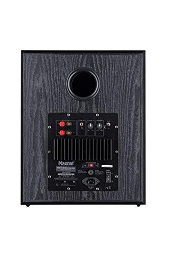 Magnat Monitor Supreme 302 A I Aktiver Frontfire Bassreflex Subwoofer mit hoher Klangqualität I 1 Stück – Schwarz