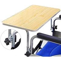 Bandeja para sillas de ruedas de madera de suministros médicos, mesa para sillas de ruedas, bandeja de sillas.
