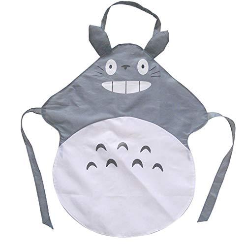 ERGEOB® Studio Ghibli My Neighbor Totoro Gray Apron Küche Schuerze Home Wear Cosplay