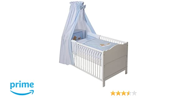 Easy baby bettset sleeping bear blue: amazon.de: baby