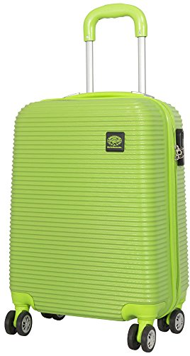 1 Koffer Hartschale Farbe grün ABS Größe S Trendyshop365