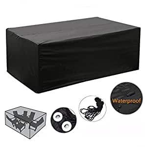 wasserdicht schutzh lle f r gartenm bel rechteckig m belset abdeckhaube 245x145x70cm amazon. Black Bedroom Furniture Sets. Home Design Ideas