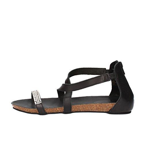 DOCKSTEPS sandali donna nero pelle strass AG855 (37 EU)