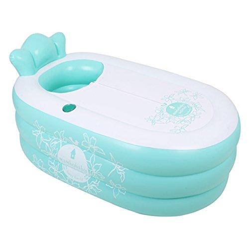 Baignoire gonflable, baignoire gonflable adulte de piscine d'isolation augmenter la baignoire gonflable d'épaississement ( Couleur : Vert )