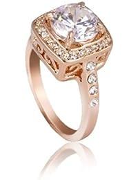 Fashion Plaza Damen Ring fein Kristall Damen verlobungsring R30