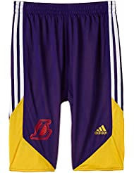 adidas Winter Hoops Reversible - Pantalones cortos de baloncesto para niño, color morado, talla UK: Size 128