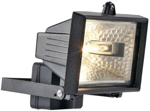 Clair Électrique 120W Projecteur Lampe Sécurité Pir Capteur Mouvement Mouvement Détecteur - Noir