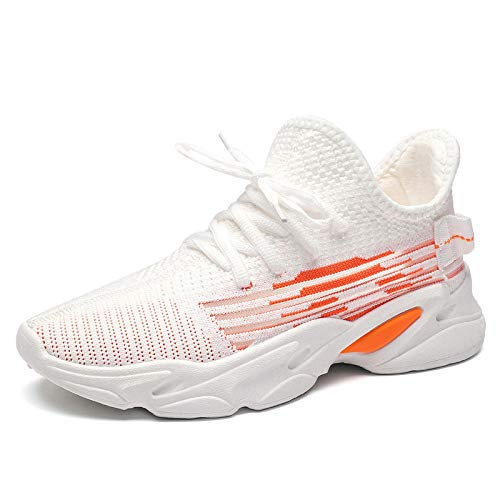WUDAOLISHI Chaussures Sport Mode Féminine Printemps Et Été 4Cm Fitness Chaussures De Sport Blanches, Respirantes Et Confortables pour Marcher, Marée Sauvage_38