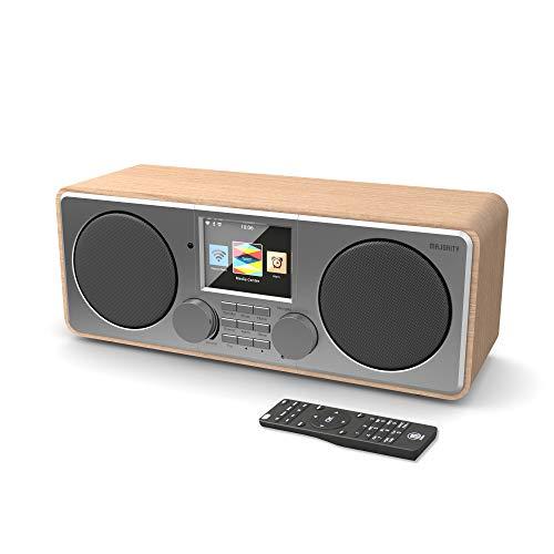 Majority Pembroke II Digitales DAB/DAB + / UKW- und Internetradio - Bluetooth - Spotify - USB- und AUX-Eingang (Eiche)