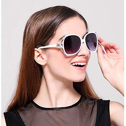 Cflfdc occhiali da sole occhiali da sole tide star occhiali lady retrò di guida occhiali da sole polarizzati uomo telaio in metallo ultra light 8253 bianco scatola panno