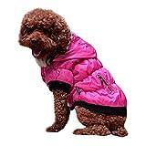 Amphia - Haustier Hund Pelzkragen Mantel Baumwolle Jacke Kleidung,Haustier Hund Katze HündchenWinter Warm Kleidung Kostüm Jac