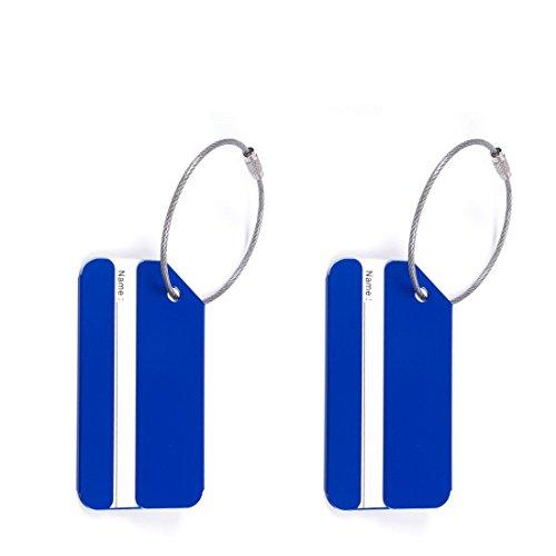 Accessories Halter Tasche Zwei Lila Violetta Hand Taschen In Blau FÜR Handtasche Id Anhänger Rad Beschriftung (Blau 2Pcs)