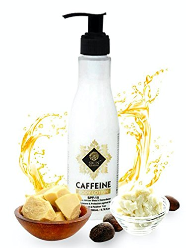 Caffeine Body Lotion by Skin Elements – Hydrate your skin with Pure African Shea & Cocoa Butter, Mineral Oil and Paraben Free