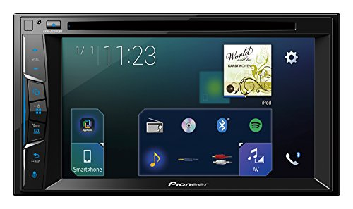 Pioneer AVH-Z2000BT 2DIN Autoradio | 6,2 Zoll Clear-Type-Touchscreen | Bluetooth | Apple CarPlay | Waze | Navigation | AppRadio | Freisprecheinrichtung | Media-Receiver für Audio Video CD DVD USB Auto Radio Pioneer Avh