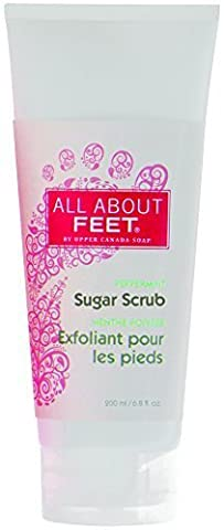 All About Sugar Foot Scrub, Peppermint by Upper Canada Soap & Candle