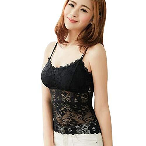 Romantische Nacht 99 Weste Oben Sexy Frauen schnüren Sich schönheit zurück Anti-Light Bodenbildung eingewickelt Brust Underwear kurzes Tank top dünn (Color : Black) -