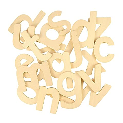 Bigjigs Toys Lowercase Wooden ABC Drawing Templates - Early Learning,