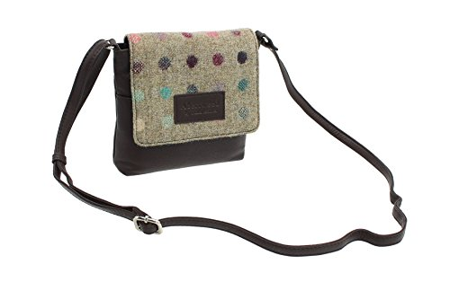 Mala Leather, Borsa a tracolla donna, Candy Pink (Rosa) - 7106_40 Brown Spot