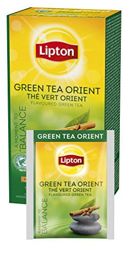 Lipton Green Tea Tchae 25 Teabags (Pack of 6, Total 150 Teabags)