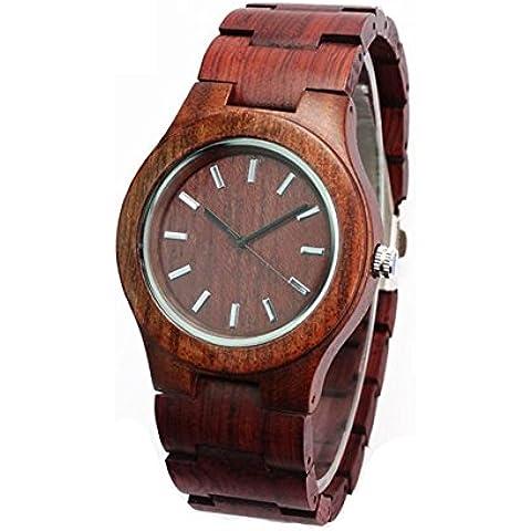Orologi in legno fatti a mano in palissandro legno di sandalo