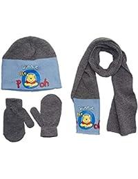 b039d5bb754e Bonnet péruvien et moufles bébé garçon Winnie lourson Bleu T42  (0  3mois